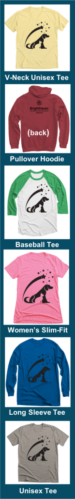 Vertical disply of Starry Nights shirts