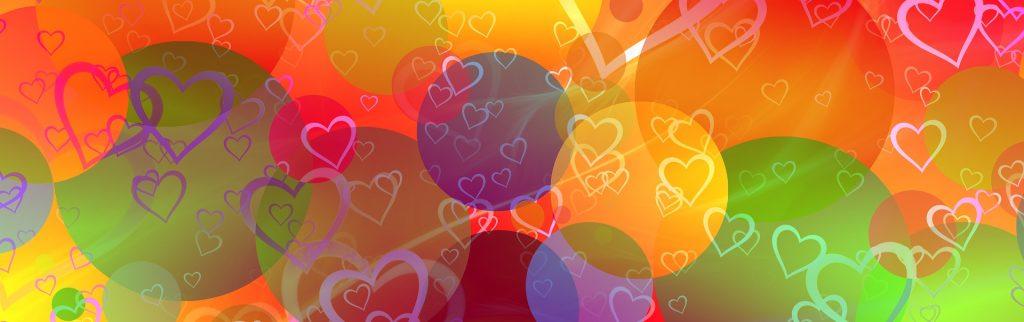 hearts balloons banner